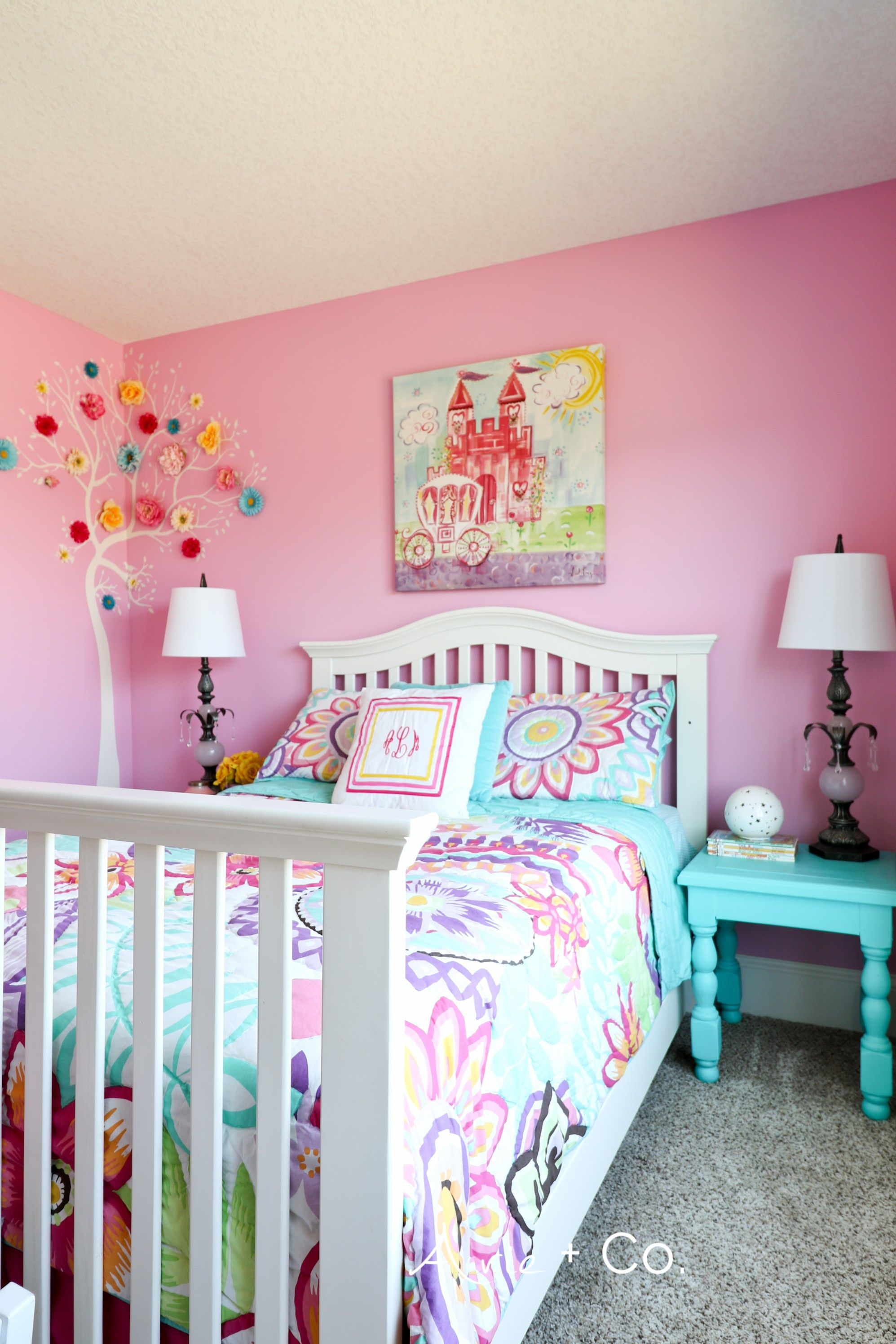 Arabella S Colorful Little Girl Room Pink Bedroom Decor Pink Bedroom For Girls Little Girl Rooms