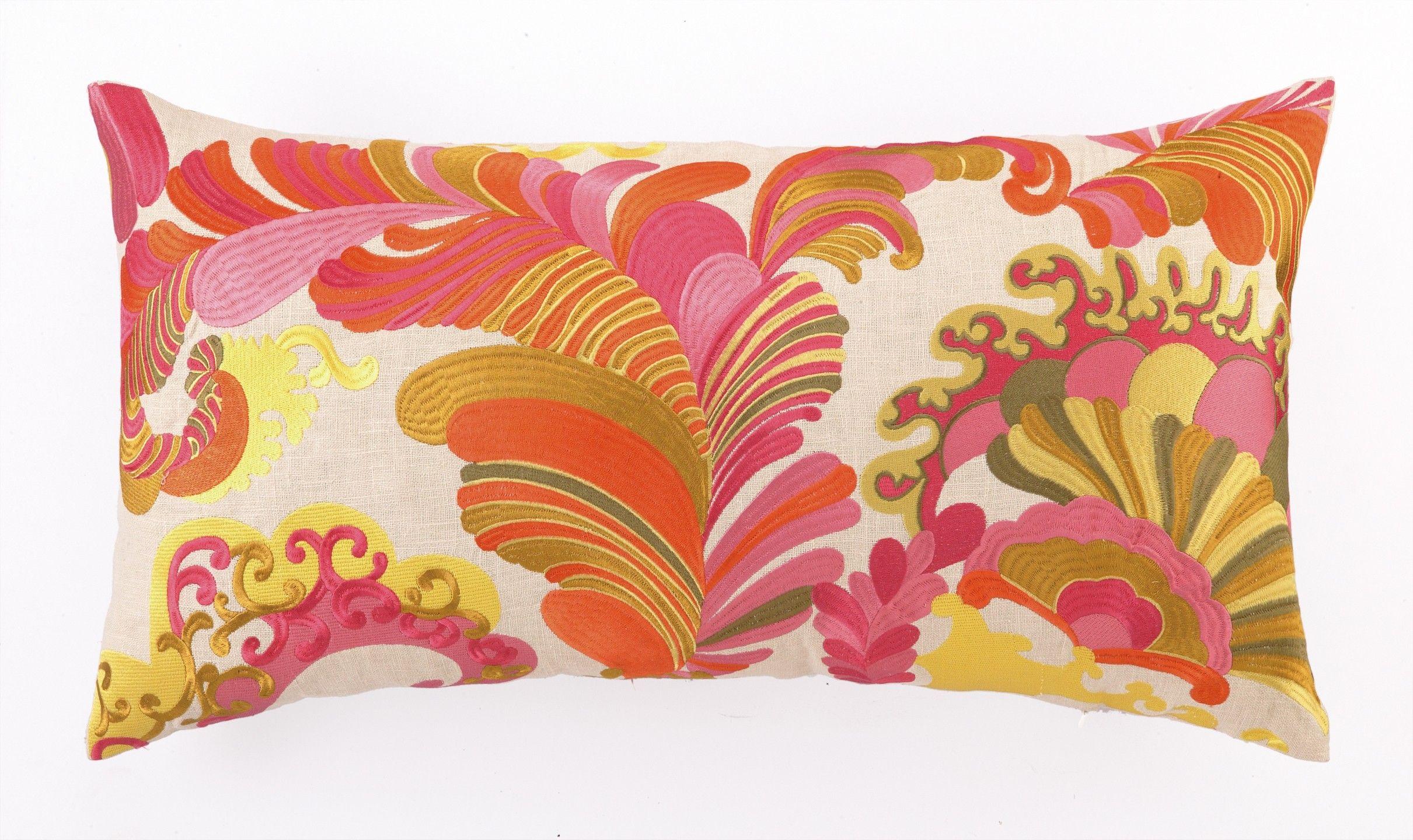 Trina Turk Coachella Embroidered Pillow