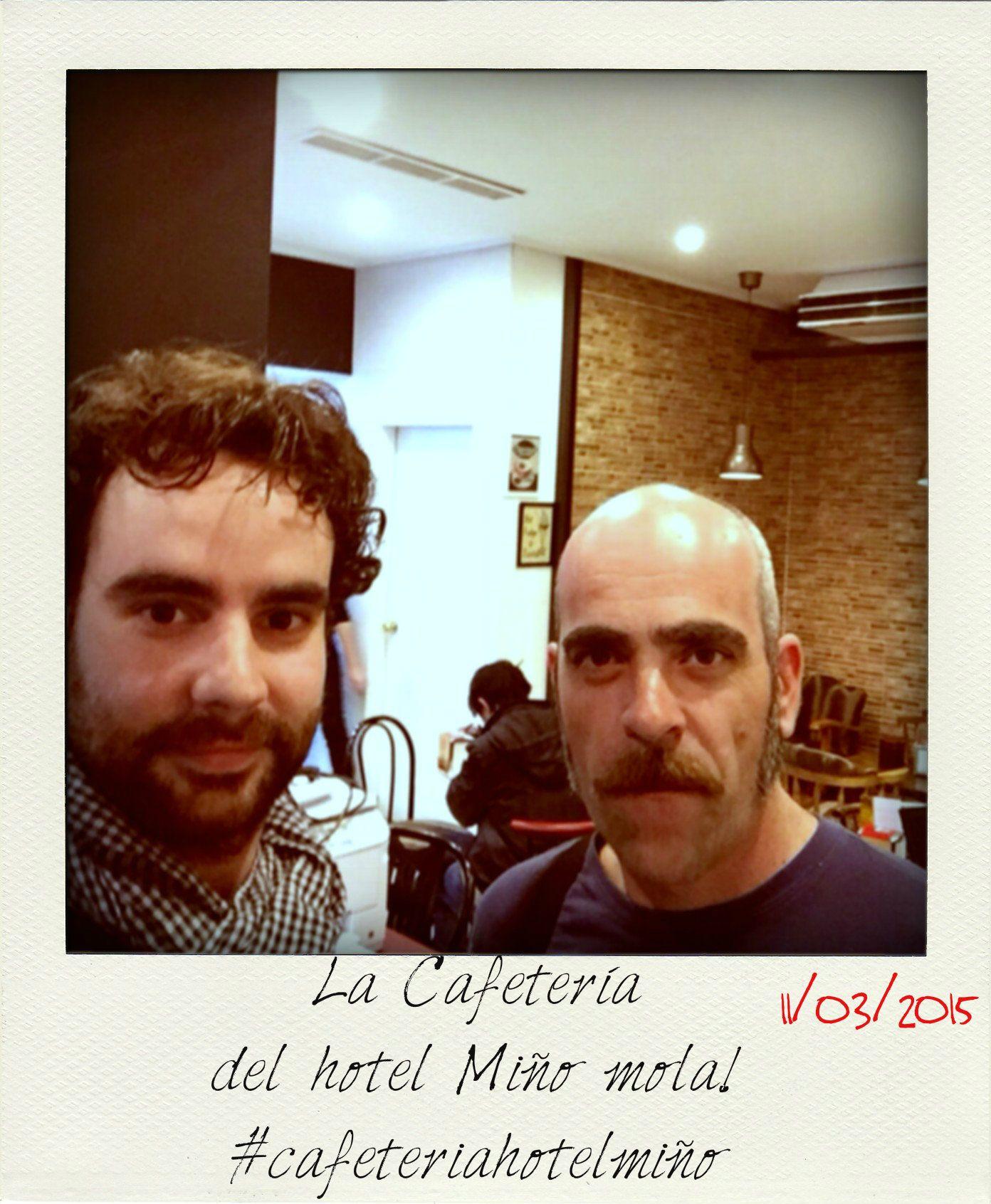 Con Luis Tosar! Convertimos nuestro salón en un camerino para el rodaje de la película Toro
