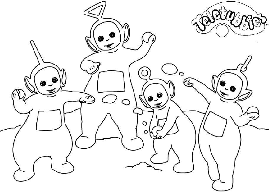 teletubbies fargelegging  tegninger 8  bear coloring