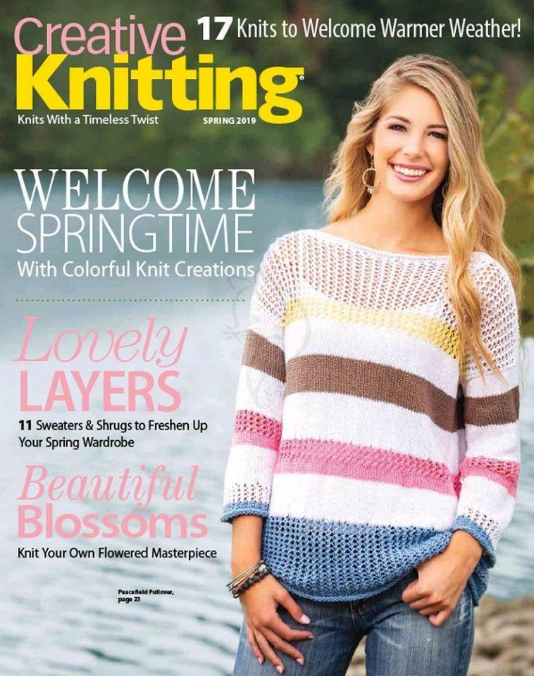 Creative Knitting Spring 2019 иностранные журналы по вязанию
