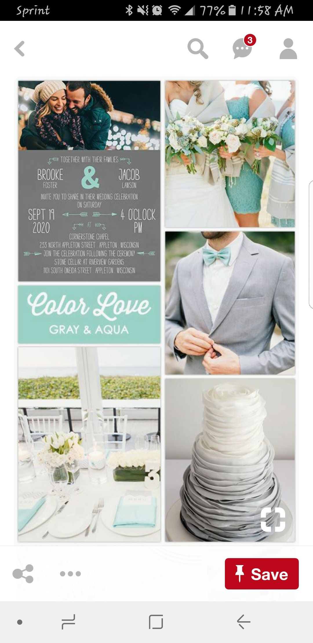 Wedding colors for a beach wedding  Pin by Mona Hanley on Wedding  Pinterest  Wedding