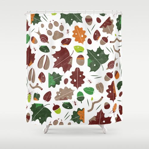 Forest floor tile pattern Shower Curtain by DWatson | Society6