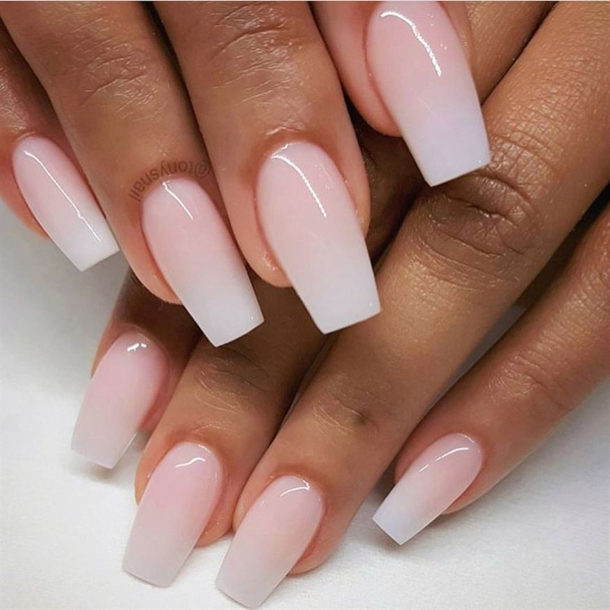 Ombre Pink Nails Pretty Pink Glitter Nails Nailart Nails Gelnails Faded Nails Pink Acrylic Nails Pink Glitter Nails
