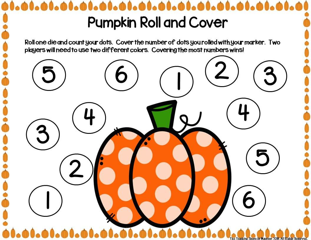 Pumpkin Unit Activities Amp Centers