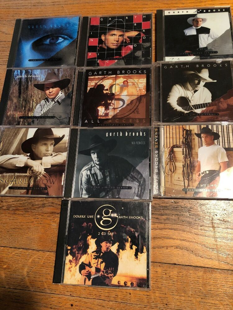 Lot Of 10 Garth Brooks Cds The Limited Series Double Live Free