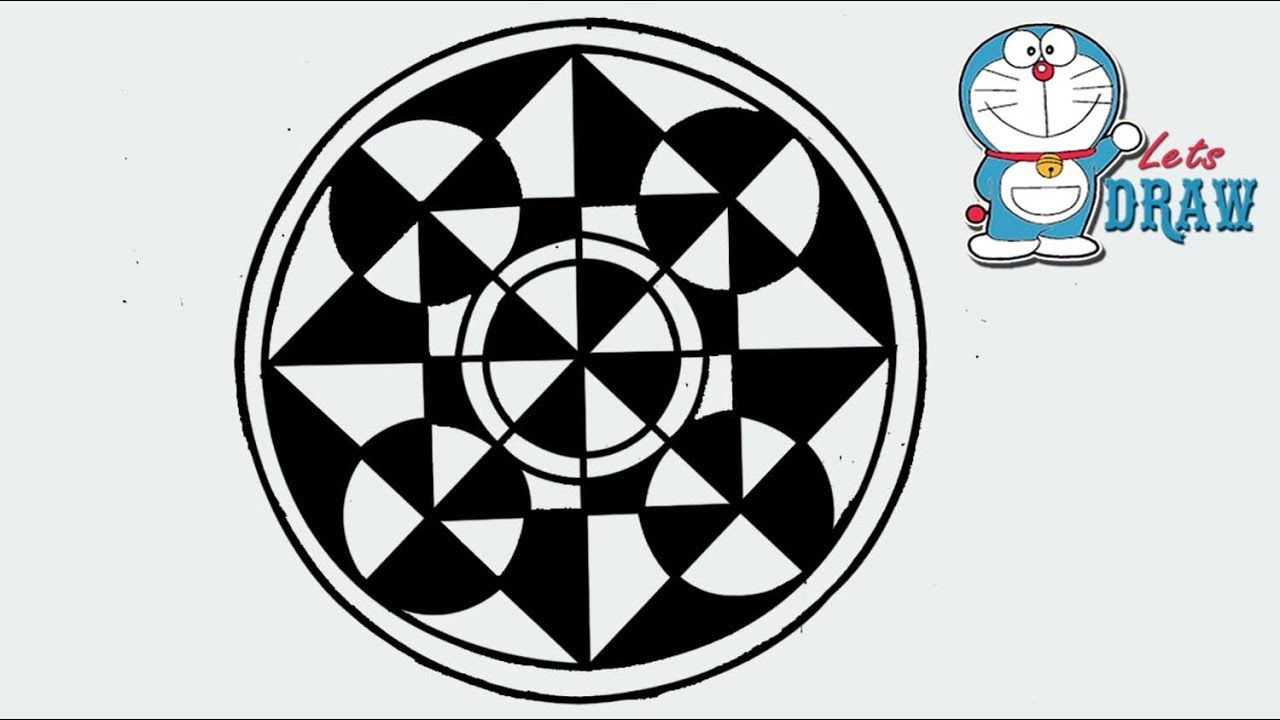How To Draw A Design Of Circle Square And Triangle Step By Step Pattern Design Drawing Square Drawing Circle Pattern Design