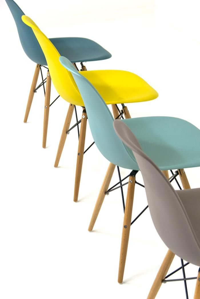 Bucket Chairs - Love the blue / teal / yellow combination. | Living ...
