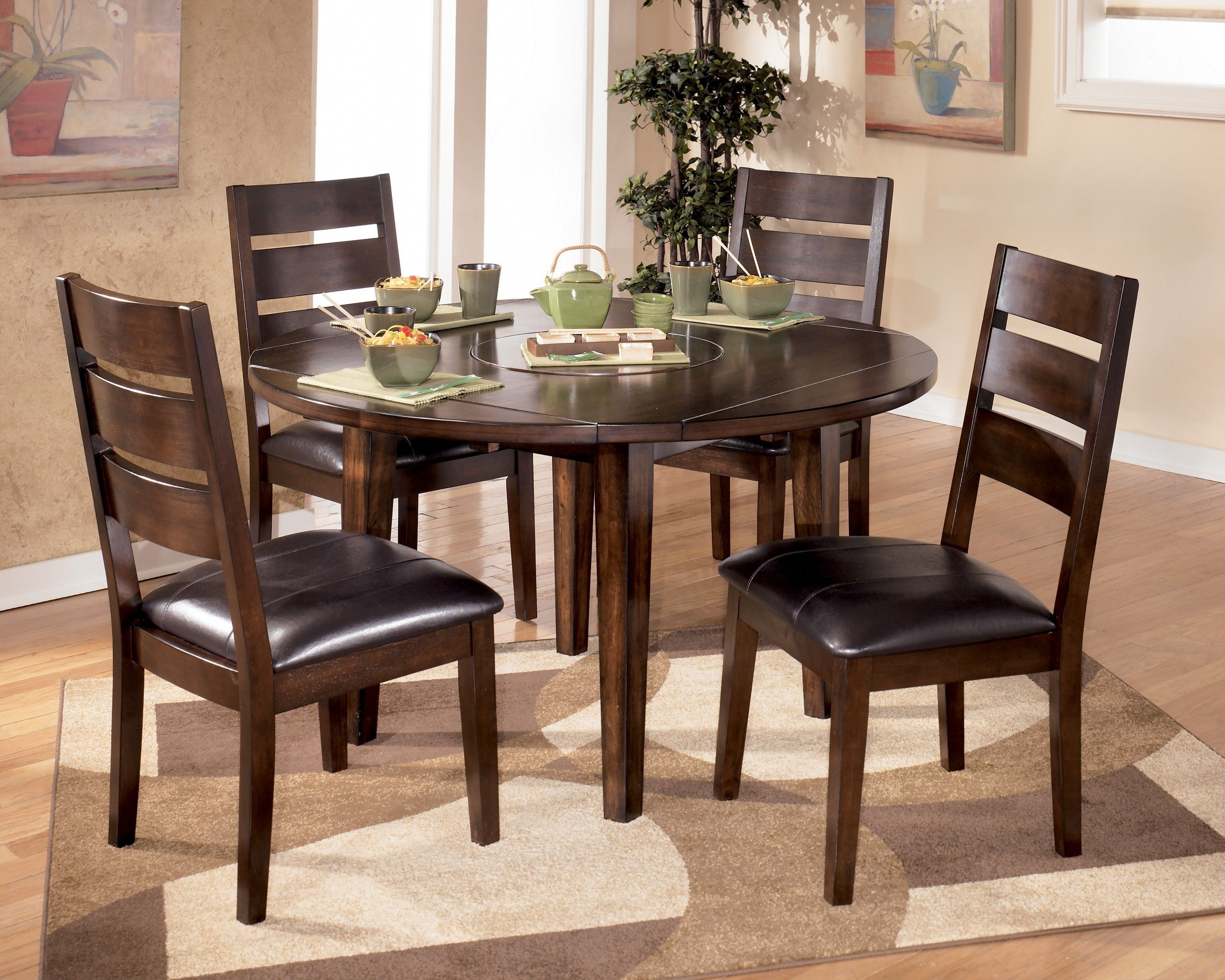 Cool Round Dining Room Table Sets Hd Meja Makan Bulat