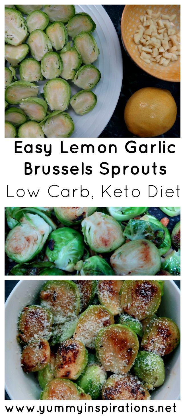 Easy Lemon & Garlic Sauteed Brussels Sprouts Recipe - a low carb and keto diet friendly brussel sprout recipe plus video tutorial.