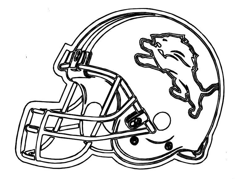 Football Helmet Detroit Lions Coloring Pages Me Lion Coloring