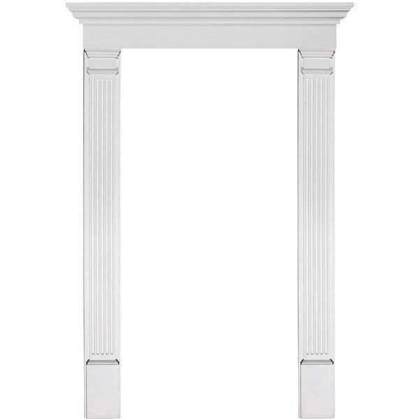 Door Trim Kit With 9 Crosshead 7 Fluted Pilasters Liked On Polyvore Featuring Doors Door Trims Trim Kit Doors
