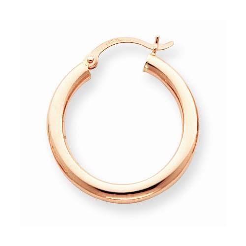 Fine Jewelry 14K Rose Gold 3mm Hoop Earrings umOqj1G95h