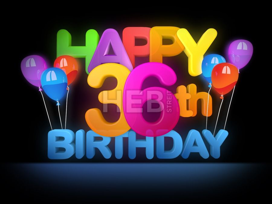 Happy 36th Birthday Title Dark Festive Holidays Seasonal