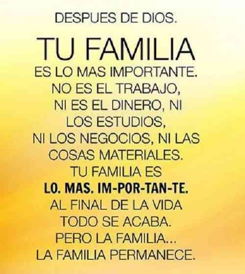 Imagenes De Amor A La Familia Frases Espirituales Frases Religiosas Frases Familiares