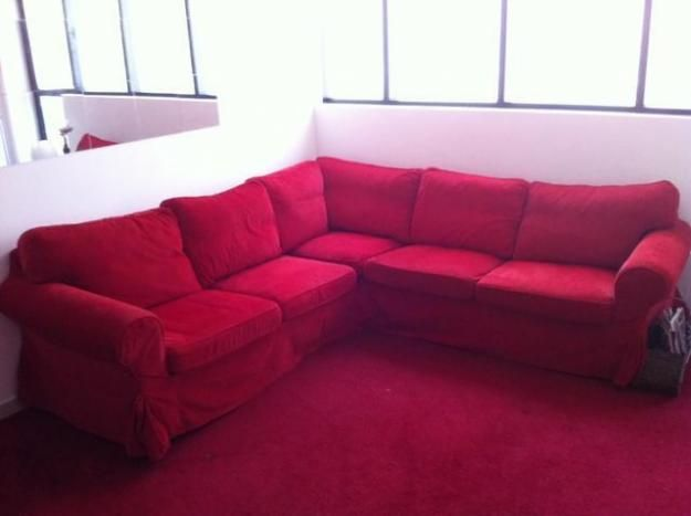 ikea red sofa | Dream House | Ikea sofa, Sofa, Red sofa