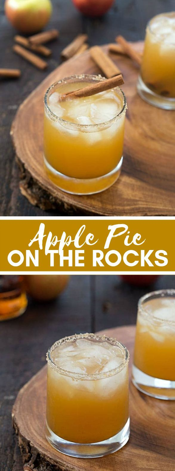 Apple pie on the Rocks #thanksgiving #christmas #drinks #apple #cocktails #thanksgivingdrinksalcohol