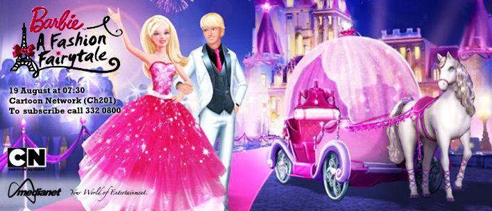 Barbie A Fashion Fairytale The Movie Follows Barbie As She Visits Her Aunt A Fashion Designer In Paris And Has A Magica Barbie Fashion Fairy Tales Fashion
