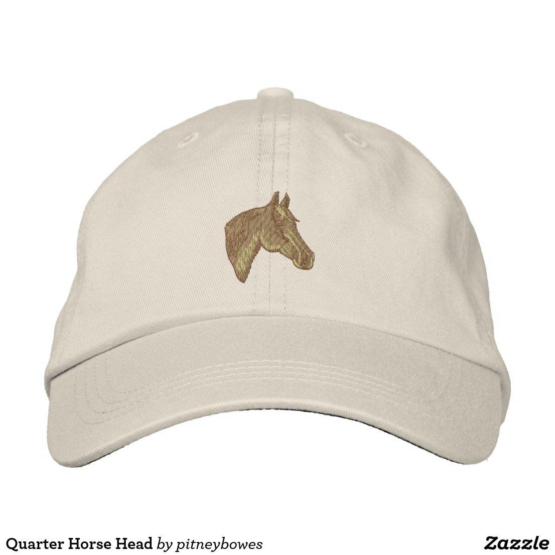 73e33272bfac6 Quarter Horse Head Embroidered Baseball Cap