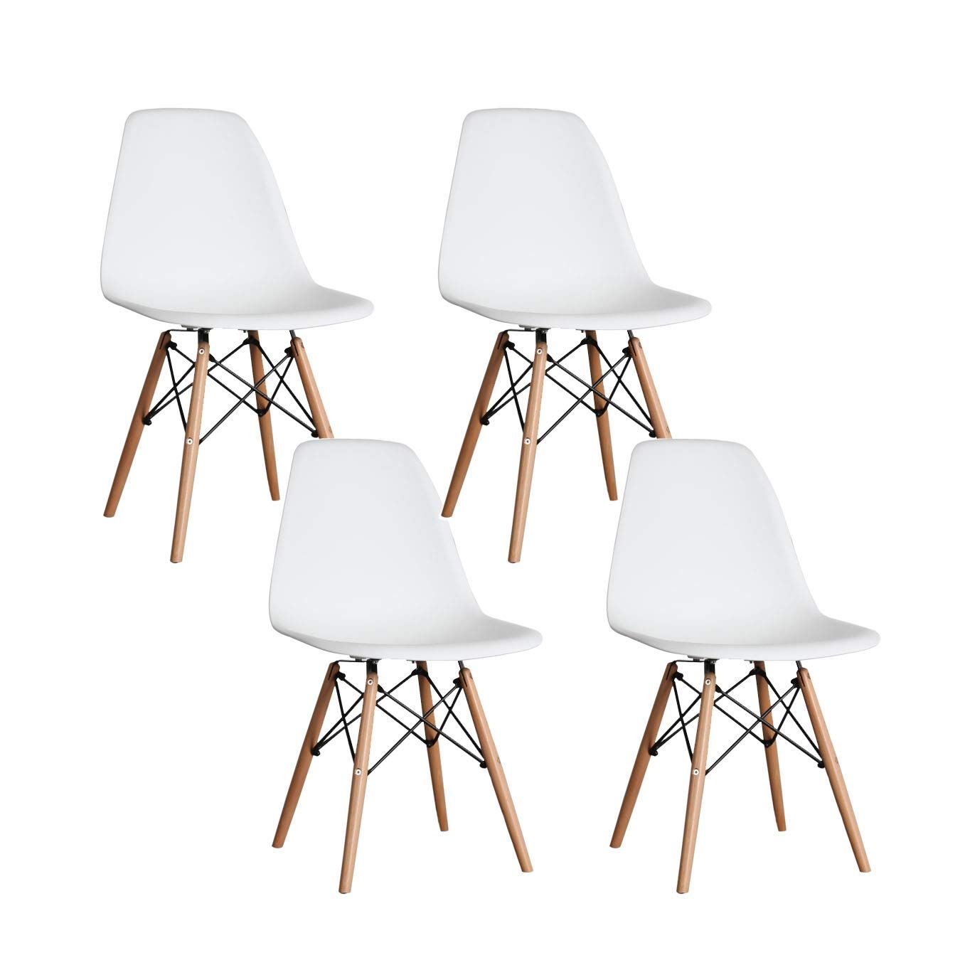 Yeefy Dining Chairs Modern Style Dining Chair Plastic Chair Set Of 4 White Chair Modern Dining Chairs Modern Chairs