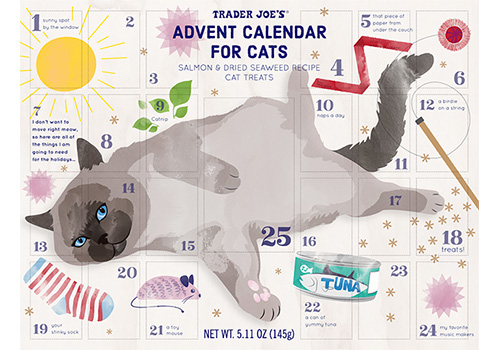 Advent Calendar for Cats Adult advent calendar, Trader joes