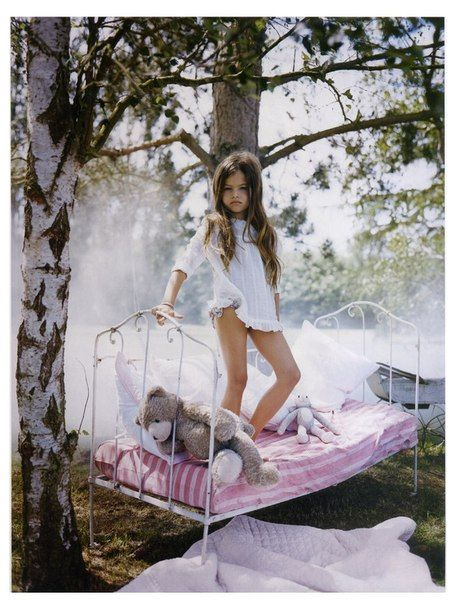 Thylane Blondeau 10 year old for vogue magazine