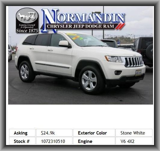 2011 Jeep Grand Cherokee Laredo SUV Fuel Consumption: City: 16 Mpg,  Passenger And