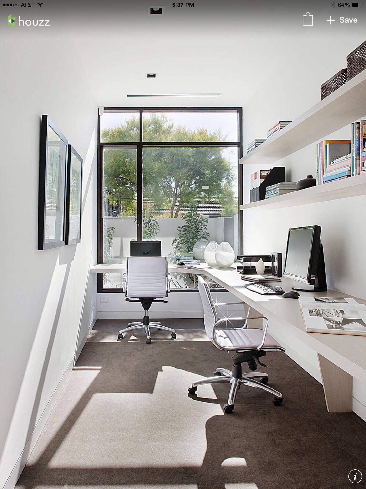 Pin By Kam On Interior Design Contemporary Home Offices Small