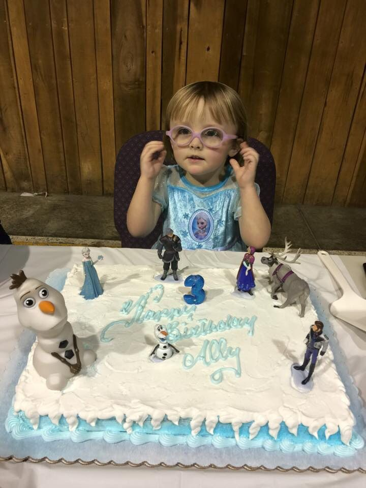 Frozen themed walmart cake i added figurines with