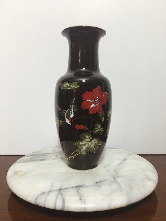 Vintage Japanese Vase Black Vase Made In Japan A Vaze