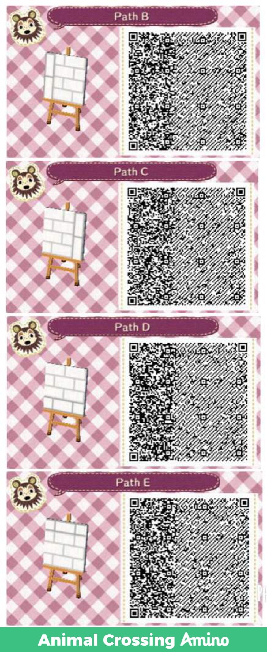 Magnolia's White Brick Path Animal crossing, Acnl paths