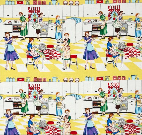 Retro Kitchen curtain Valance You choose the fabric by myvalances