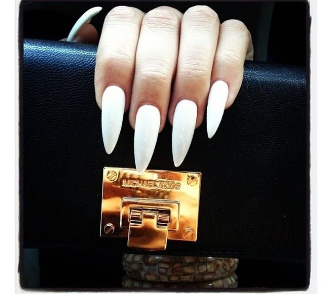 All White Stiletto Nails To For Me Snow Lol What I Wanna Call It