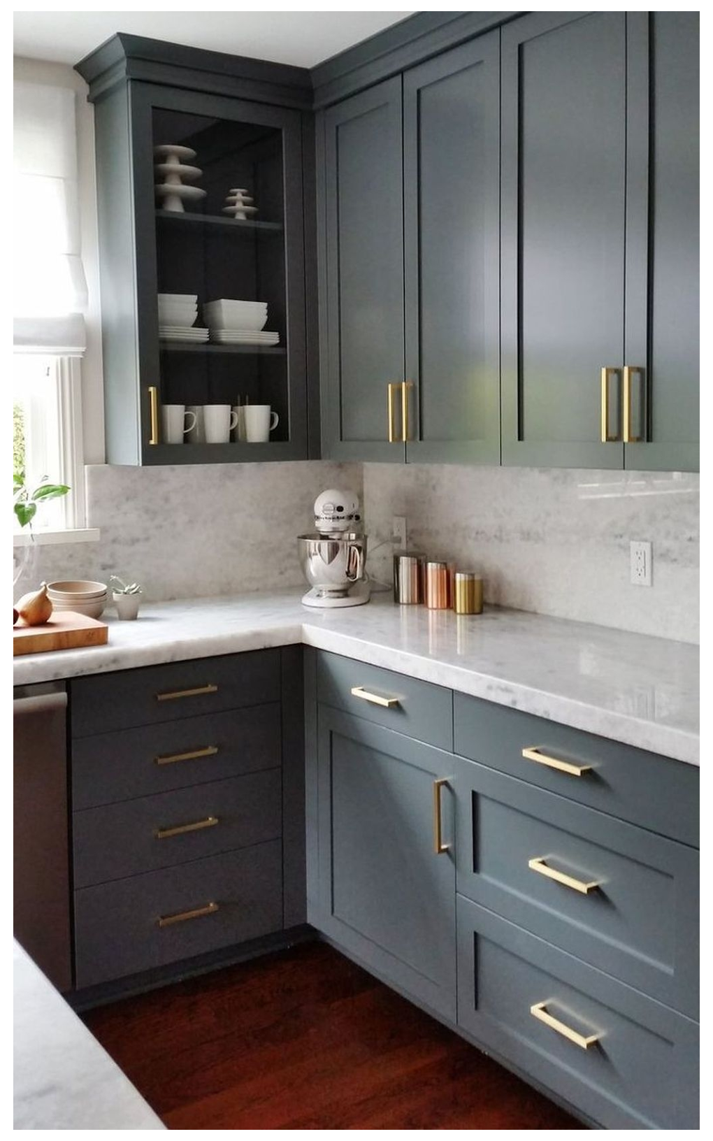 Open Shelving Better Than Upper Cabinets Pros Vs Cons Modern Kitchen Cabinets In 2020 Kitchen Inspiration Design Blue Gray Kitchen Cabinets Grey Kitchen Cabinets