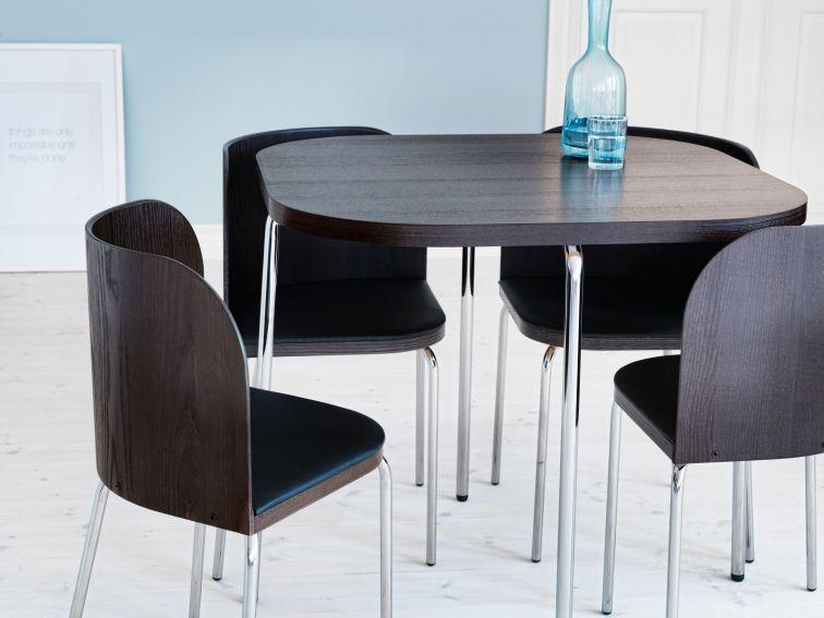 Deze fusion tafel en stoelen zijn stijlvol en geschikt voor kleine