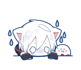Mafumafu Sticker (cat) – LINE stickers | LINE STORE | Mafu