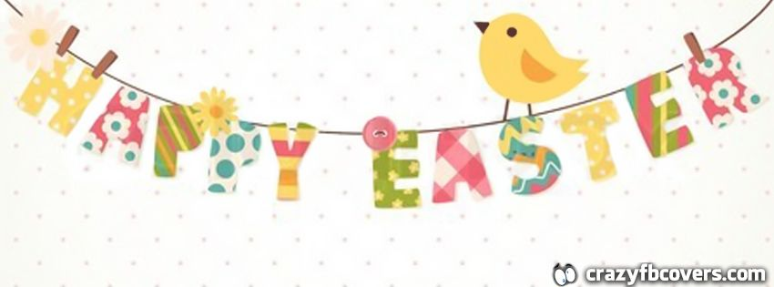 retro happy easter facebook cover facebook timeline cover photo