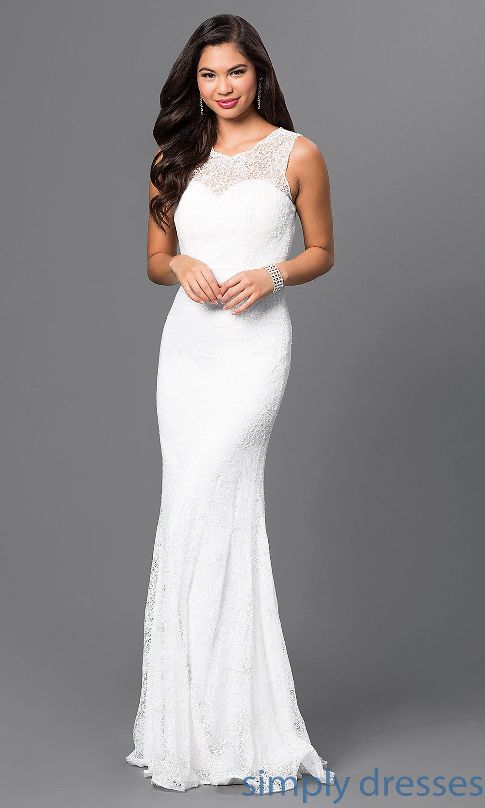 Floor-Length Sequin-Lace Formal Gown | Formal gowns, Military ball ...