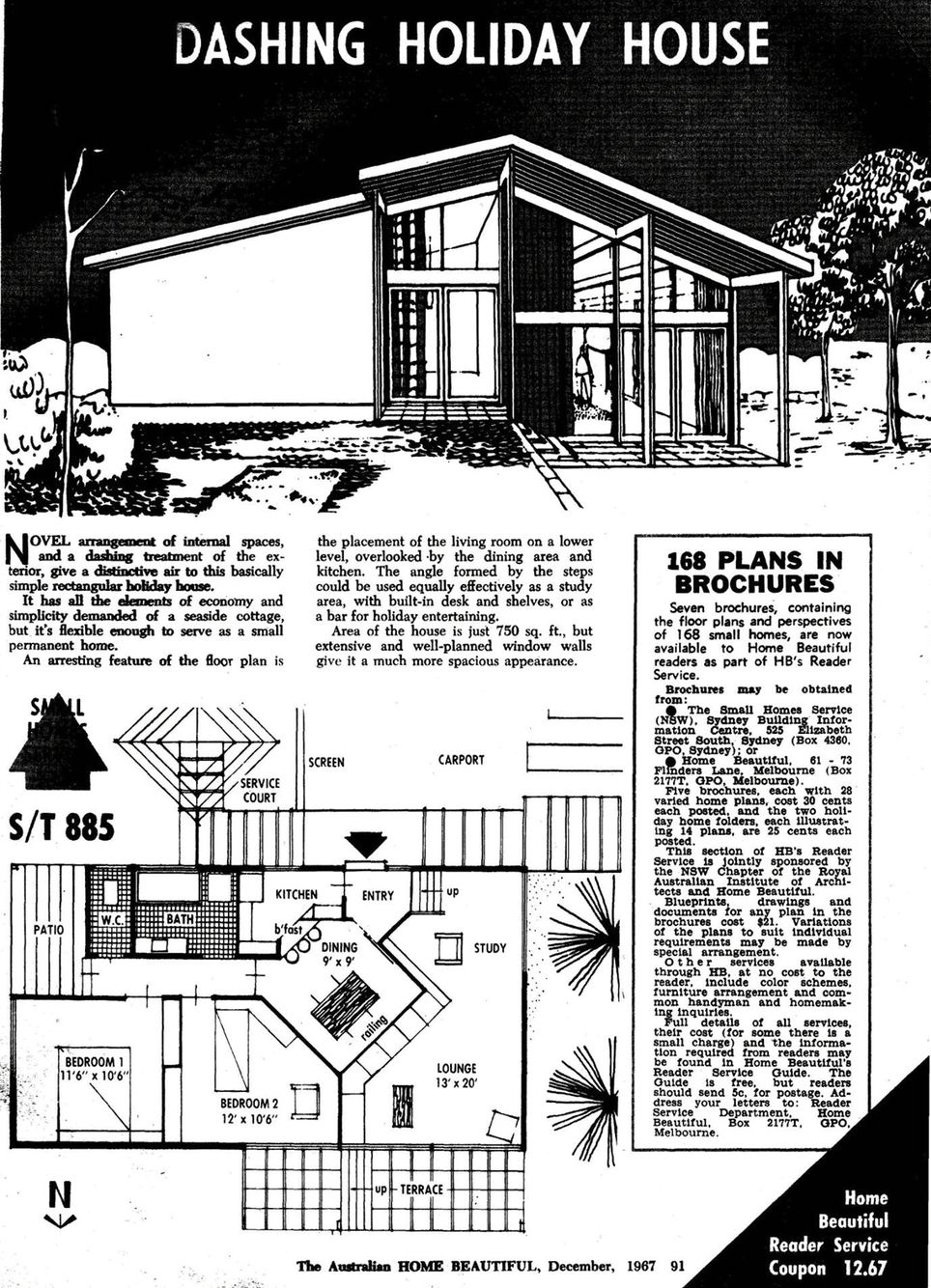 Great small house plan | Small house plan, Mid century house