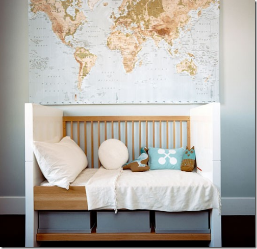 Simplified Bee Decorating Ideas Using Maps Stylish Nursery Kids Room Room