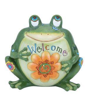 Love this 'Welcome' Frog Garden Statue by UMA Enterprises on #zulily! #zulilyfinds