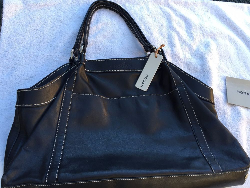 Bag · AUTHENTIC HOGAN OF TOD'S BLACK CALFSKIN LEATHER