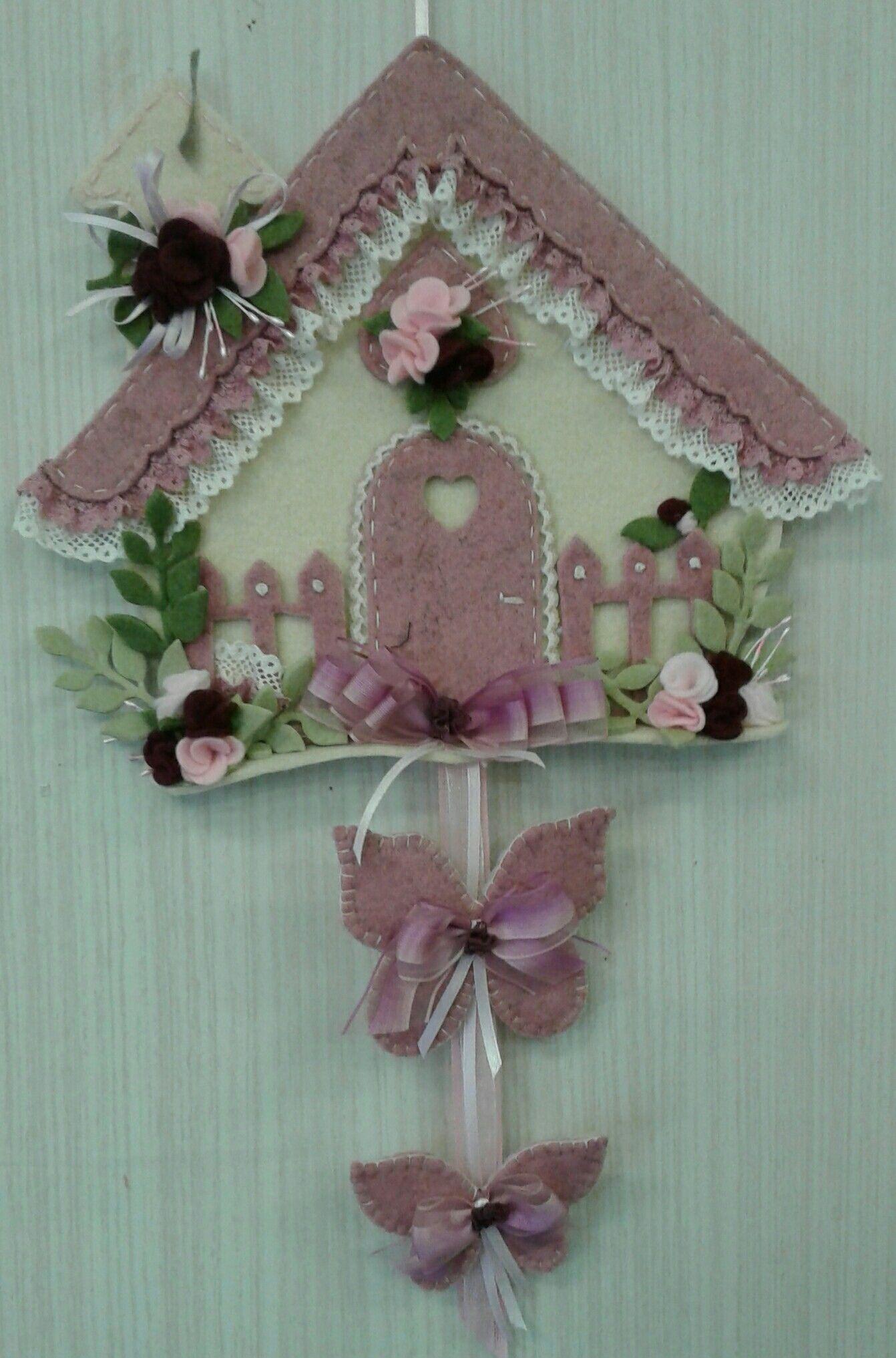 Ancora casetta rosa di luisa valent pasqua my works for Ornamenti casa
