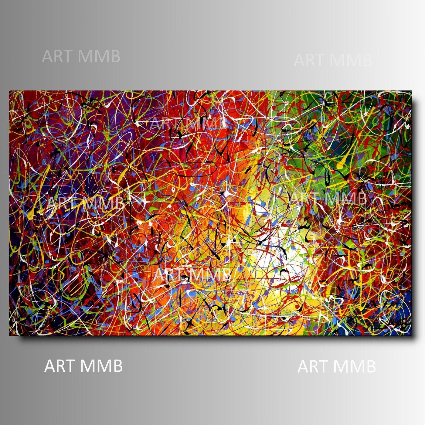 Produzione Quadri moderni astratti - 100% dipinti a mano. Quadri ...