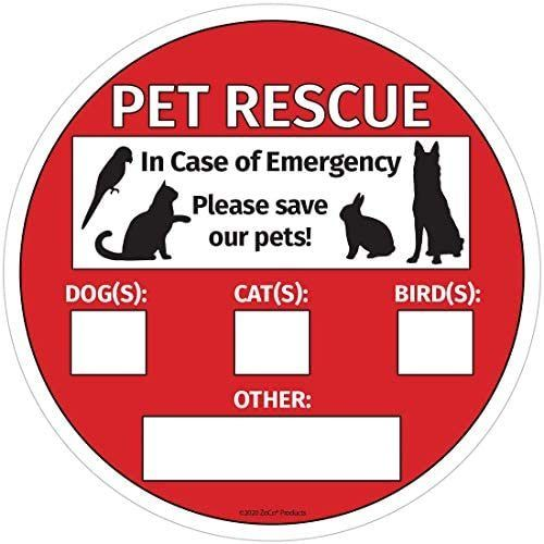 Save Our Pets Sign Emergency Pet Rescue Inside Window Static Cling Decal Easy To Remove And Reposition 5 X 5 In 2020 Static Cling Decals Static Cling Pet Signs