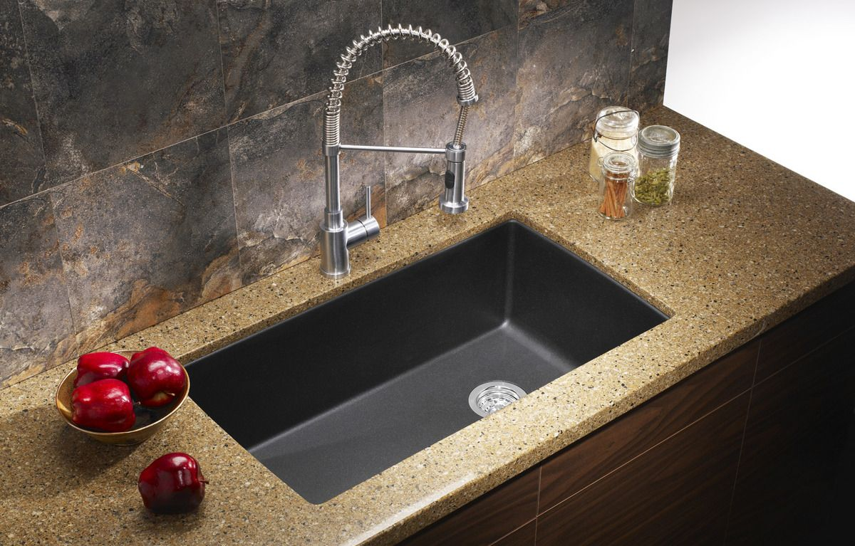 wonderful Kitchen Sinks Granite Composite #6: ECOSUS™ Granite Composite Kitchen Sink Single Bowl Undermount Combo Deal -  $299.00 · Advanced search