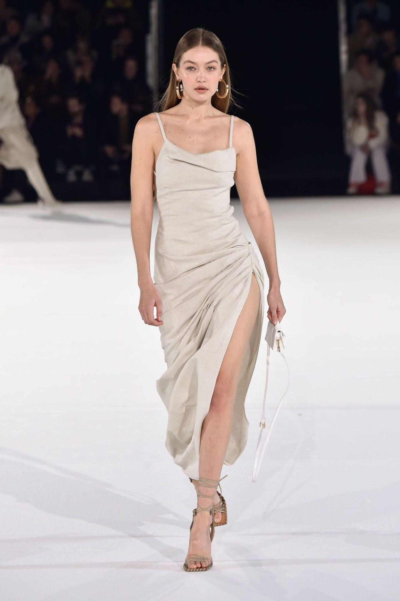 Gigi Hadid Tan Dress Google Search Fashion Week Runway Fashion Week 2020 Runway Paris Fashion Week Runway [ 2048 x 1363 Pixel ]