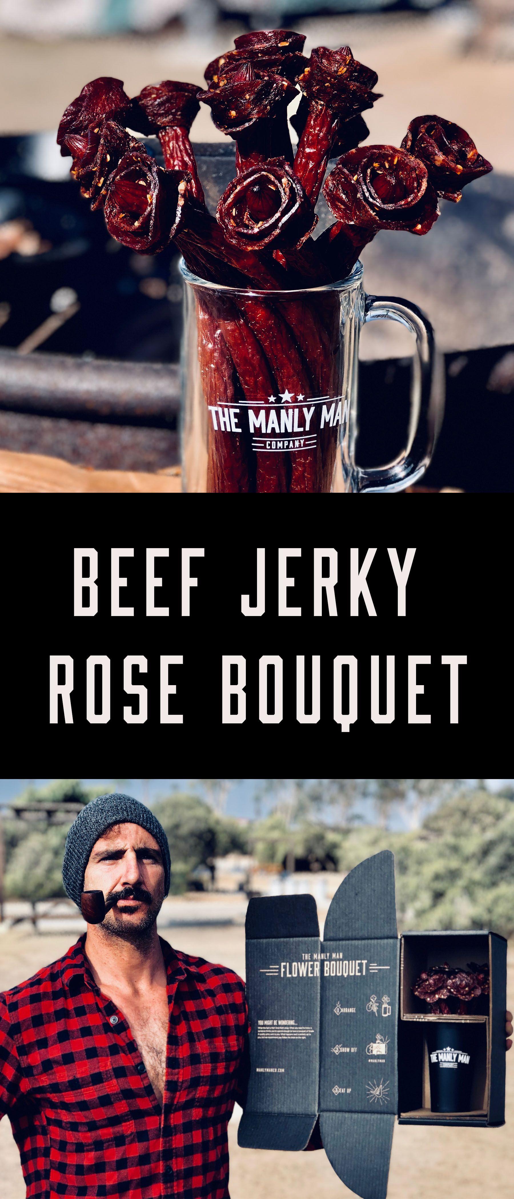 fc8a8db21a5a Beef Jerky Rose Bouquet