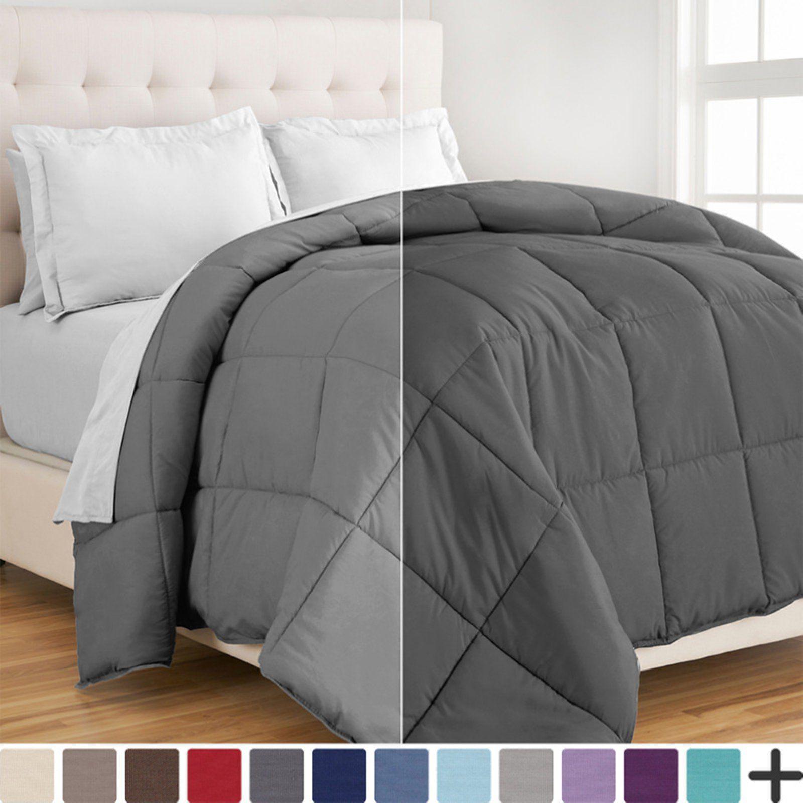 Bare Home 1800 Series Goose Down Alternative Reversible Comforter