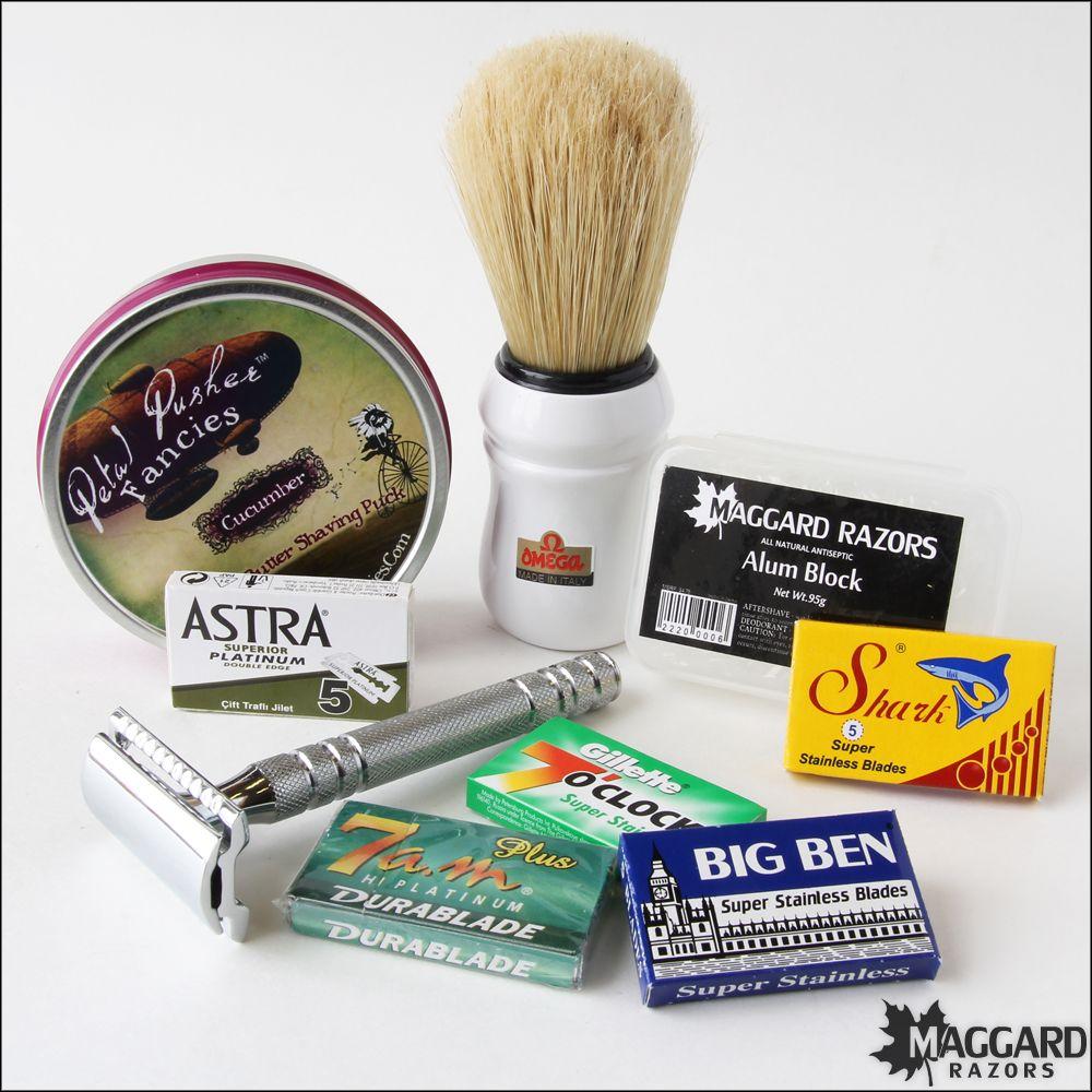 Maggard razors standard wet shaving starter kit for women
